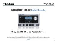 BR80WS05—Using the BR-80 as an Audio Interface - Roland