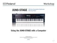 Using the JUNO-STAGE with a Computer - Roland New Zealand