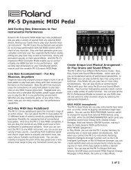 PK-5 Dynamic Foot Pedal (PDF) - Roland UK