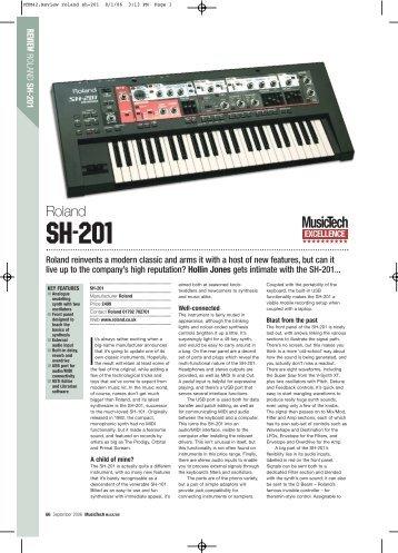 MusicTech review the SH-201.pdf - Roland UK