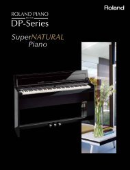 DP-Series SuperNATURAL Brochure - Roland