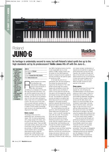 MusicTech review the Juno-G.pdf - Roland UK