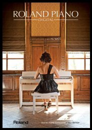 DIGITAL PIANO CATALOGUE • 2011 EDITION - Roland ...
