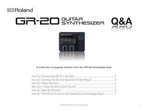 GR-20 Q&A (PDF) - Roland UK