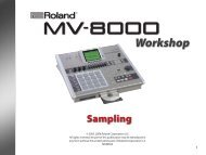 MV-8000 Workshop Series 03: Sampling (PDF) - Roland UK