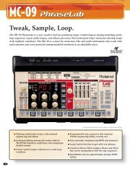 Tweak, Sample, Loop. - Roland