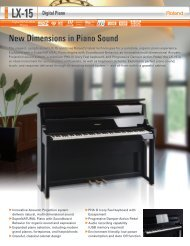 New Dimensions in Piano Sound - Roland