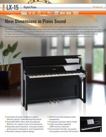 New Dimensions in Piano Sound - Roland