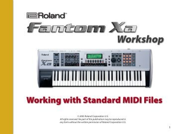 Working with Standard MIDI Files - Roland UK
