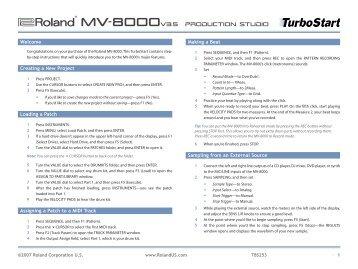 Roland MV-8000 v3.5 TurboStart