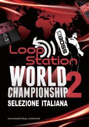 regole - Roland Italy SpA