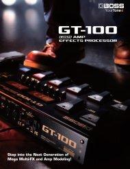 GT-100 Leaflet - Roland
