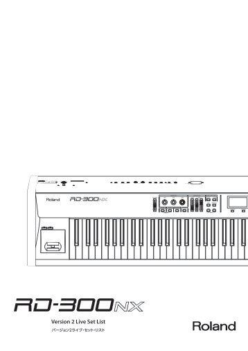 Version 2 Live Set List - Roland