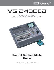 VS-2480/VS-2480CD Control Surface Mode Guide