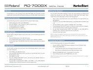 Roland RD-700GX TurboStart