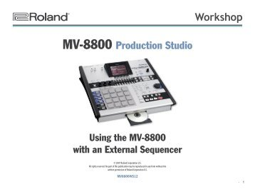 MV8800WS12—Using the MV-8800 with an External Sequencer