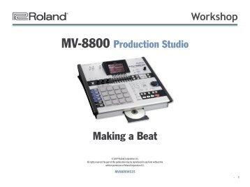 MV-8800 Workshop 15: Making a Beat (PDF)