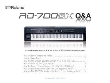 RD-700GX Q&A (PDF)