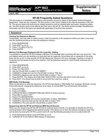 XP-50 Supp Notes