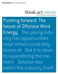 Pushing forward: the future of offshore Wind energy ... - Roland Berger