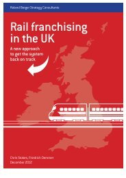 Rail franchising in the UK (PDF, 181 KB) - Roland Berger
