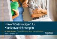Präventionsstrategien für Krankenversicherungen - Roland Berger