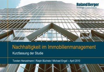 Nachhaltigkeit im Immobilienmanagement (PDF ... - Roland Berger