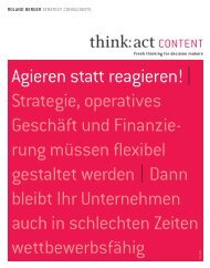 Agieren statt reagieren! | Strategie, operatives ... - Roland Berger
