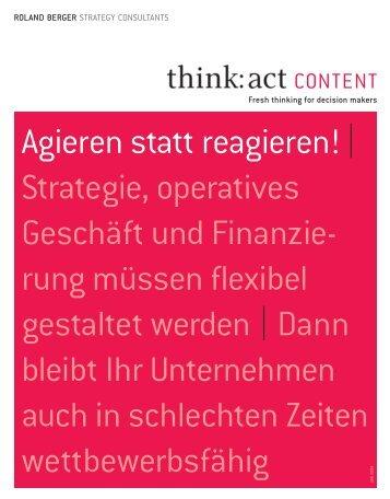 Agieren statt reagieren! | Strategie, operatives ... - Roland Berger