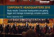 Corporate Headquarters 2010 (PDF, 3456 KB) - Roland Berger