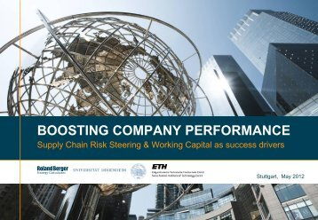 Boosting Company Performance - Supply Chain ... - Roland Berger