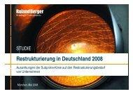 Restrukturierung in Deutschland 2008 - Roland Berger