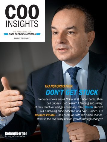 "COO Insights ""Growth through transformation"" - Roland Berger"