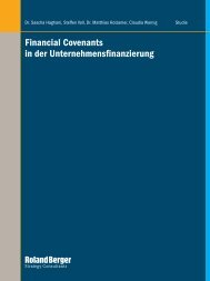 Financial Covenants in der ... - Roland Berger