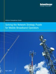 Solving the Network Strategy Puzzle for Mobile ... - Roland Berger