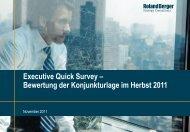Bewertung der Konjunkturlage im Herbst 2011 - Roland Berger
