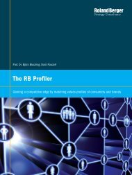 The RB Profiler - Gaining a competitive edge by ... - Roland Berger