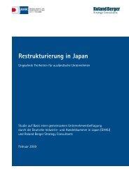 Restrukturierung in Japan - Deutsche Industrie- und ...