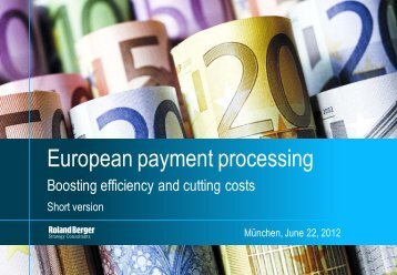 European payment processing - Roland Berger