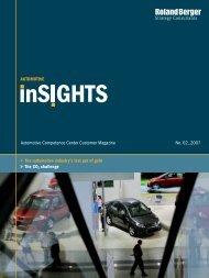 Automotive inSIGHTS 2/2007 - Roland Berger