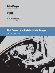 21st Century Car Distribution in Europe (PDF, 3247 ... - Roland Berger