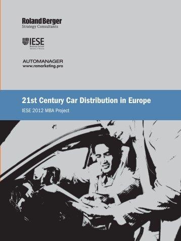 21st Century Car Distribution in Europe (PDF, 3247 ... - Roland Berger