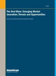 The Next Wave: Emerging Market Innovation ... - Roland Berger