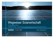Wegweiser Solarwirtschaft Wegweiser Solarwirtschaft - Roland Berger