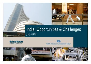 India: Opportunities & Challenges (PDF, 1341 KB) - Roland Berger