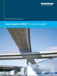 Truck industry 2020: The future is global - Roland Berger