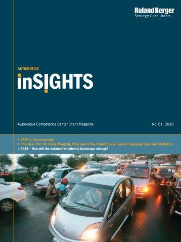 """Automotive inSIGHTS"" (PDF, 1285 KB) - Roland Berger"