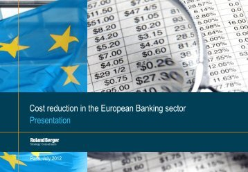 Cost reduction in the European Banking sector - Roland Berger