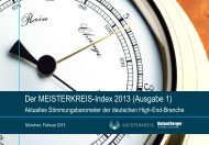 Der MEISTERKREIS-Index 2013 (Ausgabe 1) - Roland Berger