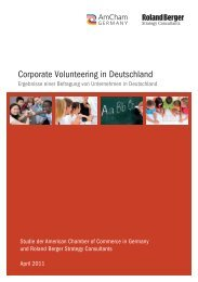 Corporate Volunteering in Deutschland - AmCham Germany